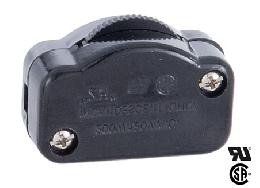 Black Hi-Low Inline Rotary DIMMER Switch, Inline Lamp cord switch - Feed Thru Cord Switches