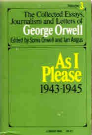 the collected essays journalism and letters of george orwell amazon Free two-day shipping for six months when you sign up for amazon prime for students the collected essays, journalism and letters of george george orwell.
