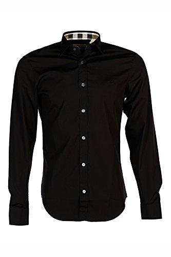 95d468c1ae98 Burberry chemise à manches longues homme noir EU XL (UK 42) CAMBRIDGE00100