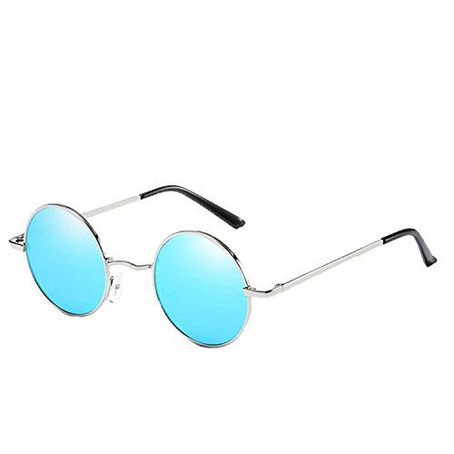 Premium Classic Round Sunglasses Men Women Vintage Retro Mirror Coating Sun glasses CC0877 C3
