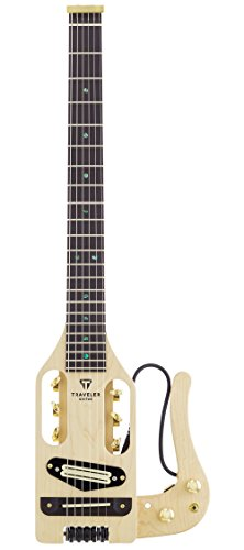 Traveler Guitar Pro-Series Deluxe PRO DLX MPL Solid-Body Electric Guitar, Natural Satin