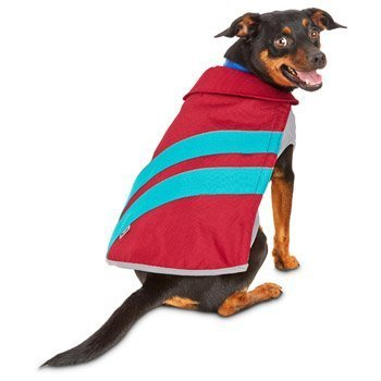 Good2Go Red/Blue Nylon Reflective Dog Sport Coat/ Jacket~SMALL~ For Sale