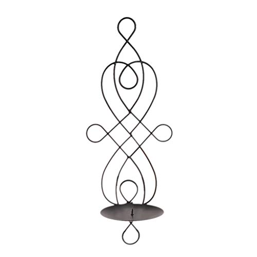 - Oranmay Metal Iron Candlestick Hanging Wall Sconce Candle Holder Home Decor Ornaments (Black)