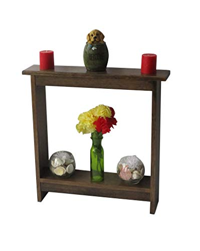 (Small Side Table/Entry Table/Accent table/Narrow Entryway Table/Rustic Wood Table/Rustic Walnut Stain)