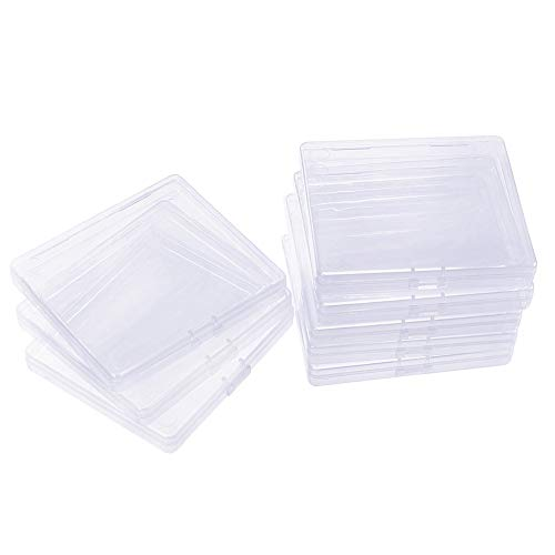 Organiser Mini - BENECREAT 18 Pack Rectangle Clear Plastic Bead Storage Containers Box Drawer Organizers with Lid for Beads Cards and Other Craft Accessories - 3.3x3x0.47 Inches
