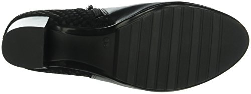 Marc Shoes Edina, Zapatillas de Estar por Casa para Mujer Negro - Schwarz (black-combi 00025)