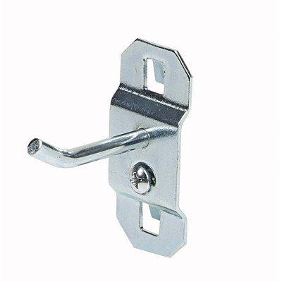 (Triton Stainless Steel LocHook 30 Degree Bend Single Rod Pegboard Hook - Set of 3)