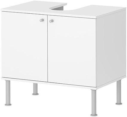 Ikea FULLEN - Armario de lavabo con 2 puertas, blanco - 60x55 ...