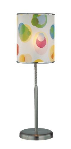 Lite Source LS-21272 Levendig Table Lamp, Polished Steel with Printed PVC Shade, Metallic Review