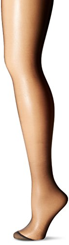 No Nonsense Women's Ultra Sheer Regular Pantyhose with Reinforced Toe , Off Black, C,(Pack of 3)