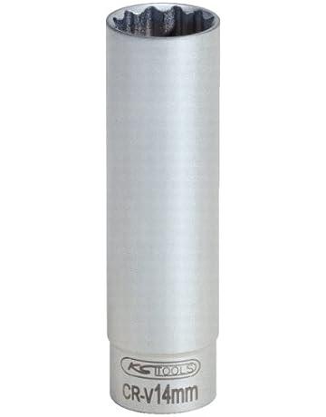 KS Tools 911.3991 Llave de vaso especial para bujías, dodecaedro (tamaño: 14 mm, 3/8
