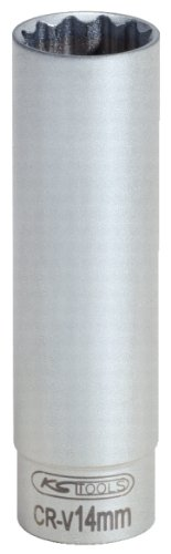 KS Tools 911.3991 Llave de vaso especial para bujías, dodecaedro (tamaño: 14 mm