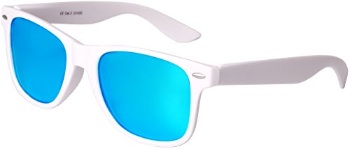 ressort Blanc turquoise Gomme Miroir Vintage dans Nerd qualité soleil haute avec 24 Lunettes Balinco Charnière Unisexe Set polarisé Rétro Modèles à Lunettes de 1wHxFOIqR