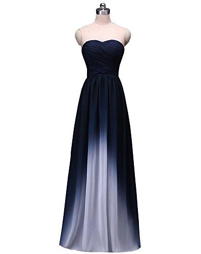 ... Women s Strapless Pleated multicolour Sleeveless Floor-Length Evening  Prom Dresses Navy Blue US 26 Plus.    13bd95170