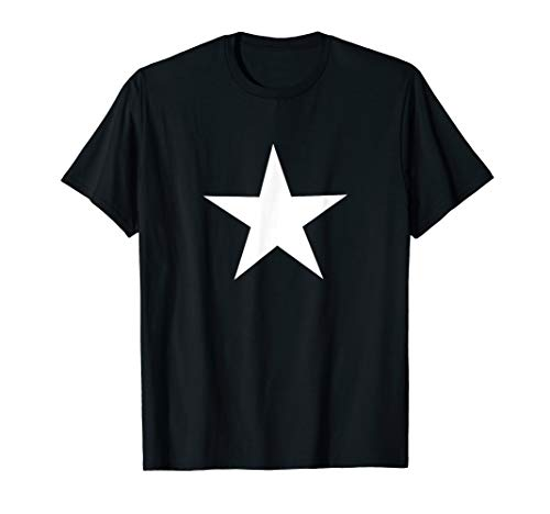 White Star on Front T-Shirt (All Star Mens T-shirt)