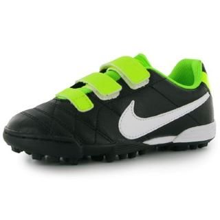 Nike JR TIEMPO V3 TF AF BLACK/WHITE-ELECTRIC GREEN, Größe Nike:12.5C