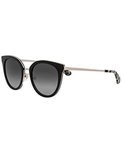Kate Spade New York Women's Jazzlyn/S Black/Gold/Dark Gray Gradient Lens - Katespade Sunglasses