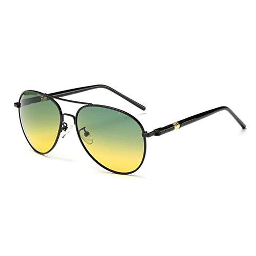 De Polarizador HOME Nocturna Día Gunmetal Color Controladores Negro Gafas Gafas QZ De Controladores Sol Noche Conducción Visión Gafas De Y qgSvvI