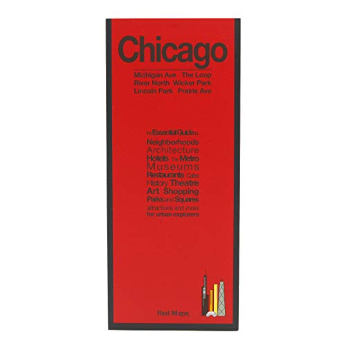 Red Maps CHICAGO Street Map and City Guide