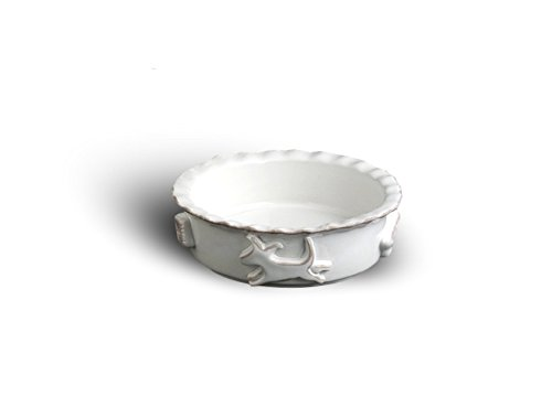 Carmel Ceramica PDSW3010Dog Food/Water Bowl, French White, Small