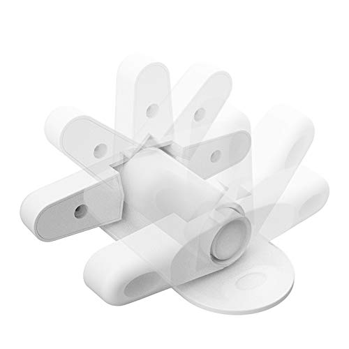 Door Lever Lock Child Safety Proof Doors Handles Lock & Handles 3M Adhesive White (4 Pack) by Kimmyi (Image #5)