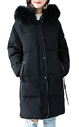Amazon.com: Dreubea Women's Thickened Down Jacket Puffer