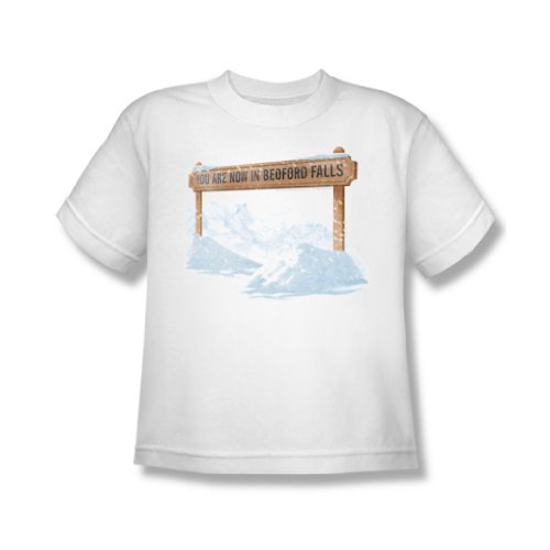 Its A Wonderful Life - Youth Bedford Falls T-Shirt In White, X-Large, White