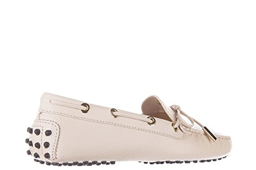 f4e1501140b new Tod s women s leather loafers moccasins heaven laccetto occhielli pink