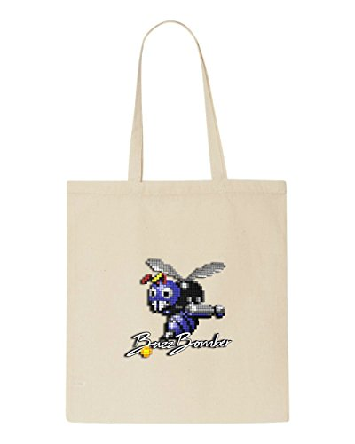 Tote Buzzbomber Shopper Gaming Art 3d Pixel Bag Beige wBxIpqPqn
