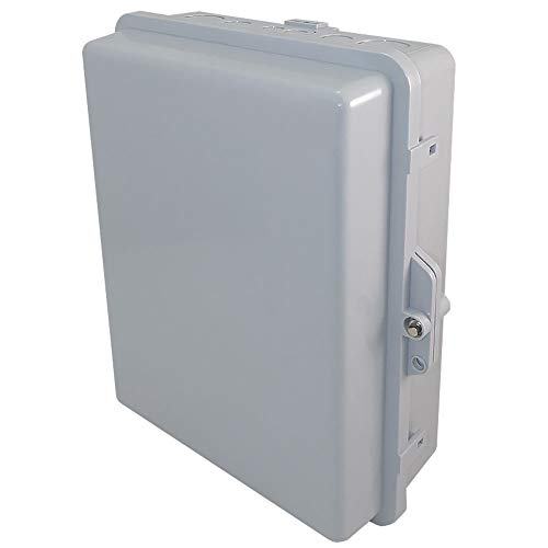 Altelix NEMA Enclosure 12 x 8 x 4 Inside Space Polycarbonate + ABS Weatherproof Tamper Resistant NEMA Box