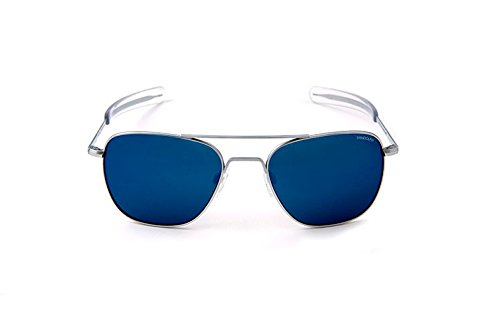 Randolph Aviator AF54668-PC Square Sunglasses,Matte Chrome,55 mm