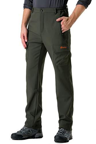 マイル役員透過性Clothin(クロズイン) メンズ 登山用 パンツ アウトドアスポーツ ライトウィンズボン 速乾撥水 防風 防水 防寒 ハイキングパンツ-3XL-アーミーグリーン