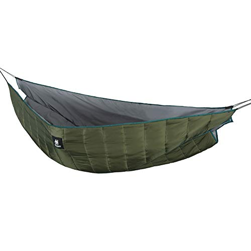 (OneTigris Shield Cradle Double Hammock Underquilt, Lightweight Camping Underblanket, Warm Hammock Insulation (OD Green - Winter Underquilt))