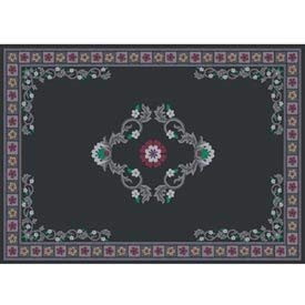 Guardian MLL-00002791 DECOR Designs Elegant Decorative Indoor Floor Mat 6' x 8' Black [並行輸入品]  B07N8CZ7KX