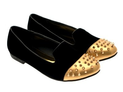 PUMPS BALLET Suede 3 Black LD 8 Outlet SLIPPERS STUDS NEW MUKES GIRLS STUDDED SHOES FLATS LADIES LOAFERS WOMENS SPIKE qfz8wHq