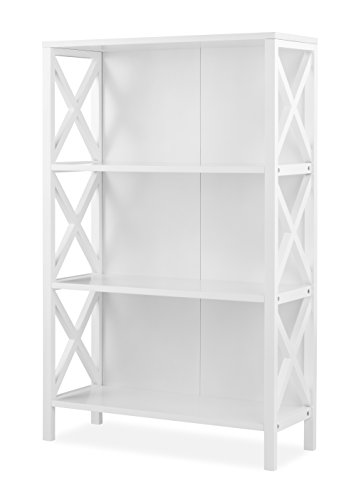 White 3 Shelf Pantry (Whitmor X-Frame 3-Shelf Bookcase, White)