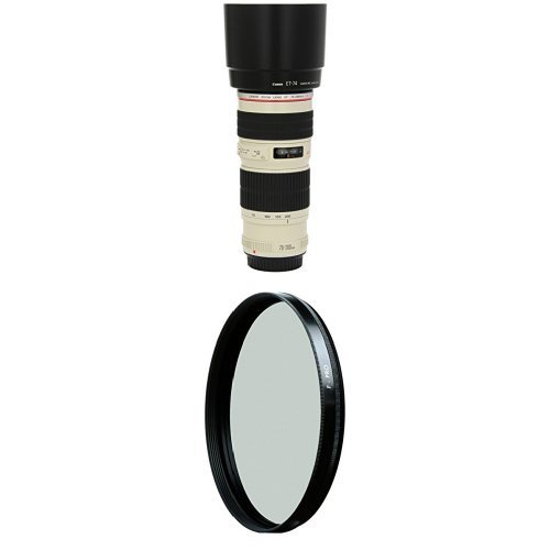 Canon EF 70-200mm f/4L USM Telephoto Zoom Lens for Canon SLR Cameras w/ B+W 67mm HTC Kaesemann Circular Polarizer