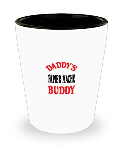 White Ceramic Shot Glass Daddy's Papier-Mache Buddy Coffee Mug - Unique Cool Cute Father's Day Gifts Trust Me Great Novelty Gift Dad,al4760]()