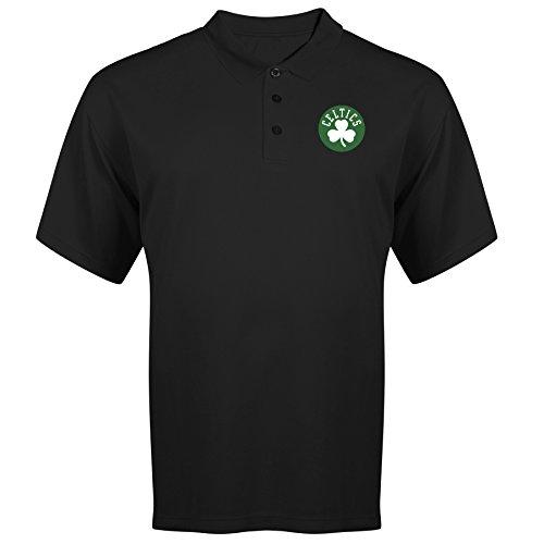 NBA Boston Celtics Adult men NBA Plus S/Solid Birdseye Polo,3XT,Black