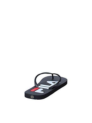 Sport Mocassini Slipper Base Fila Men Uomo Nero Troy Oc56Fq