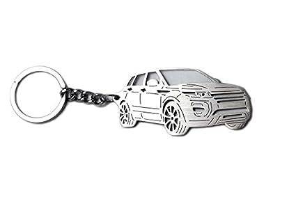 Llavero de acero inoxidable apto para Range Rover Evoque ...