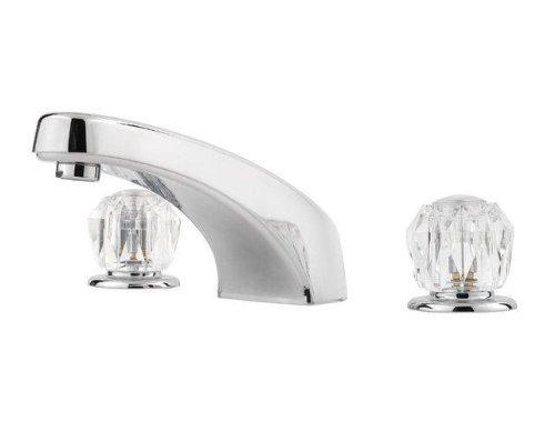 Price Pfister 1T6-4005 Double Acrylic Handle Roman Tub Trim, Polished Chrome - Exclusive Roman Tub Faucet