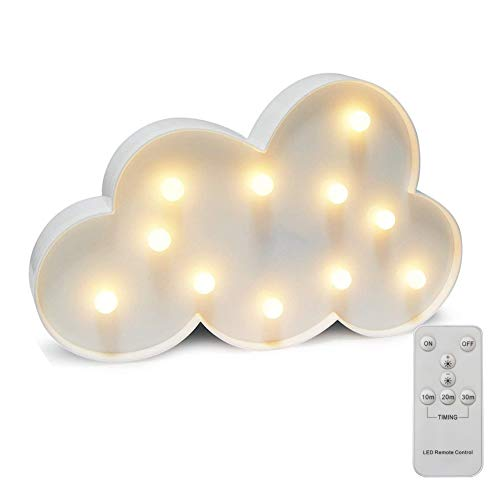 Battery Operated Night Light LED Marquee Sign with Wireless Remote Control for Kids