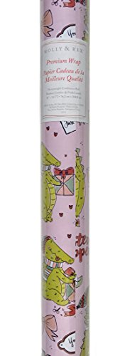 Molly & Rex Heavyweight Continuous Gift Wrap Paper Roll Wrapping Paper ~ Crocodile Christmas Wrapping Presents 12572