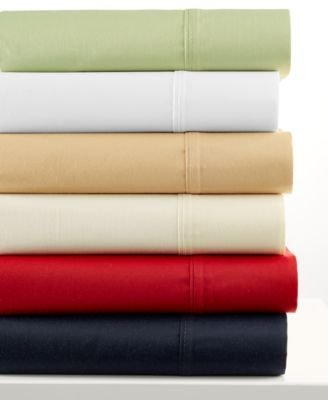 Glenmore Collection - Glenmore Collection CAL KING Luxury 320 Thread Count 6 Piece Sheet Set: FIRE ENGINE RED