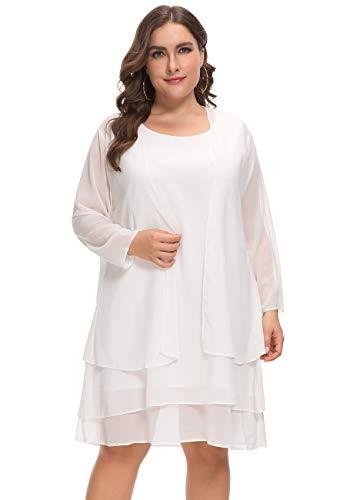 (MISSJOY Women's Plus Size Business Chiffon Jacket Mother of The Bride Dress Suit)