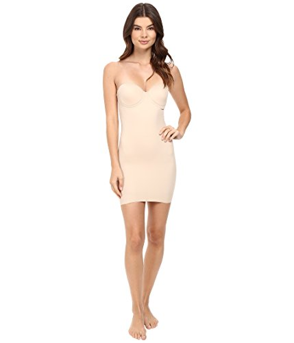 Miraclesuit Real Smooth Extra Firm Control Strapless Slip, 36C, Nude (Miraclesuit Body Briefer)