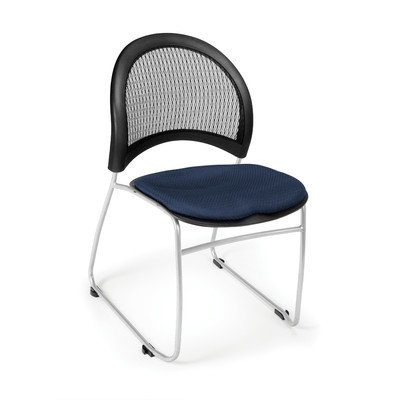Stacking Chair Moon - OFM 335-2203 Moon Stack Chair, Navy