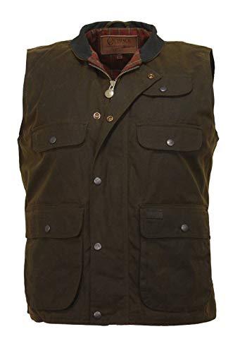 Outback Trading Overlander Waterproof Oilskin Vest, Bronze, Bronze, XL