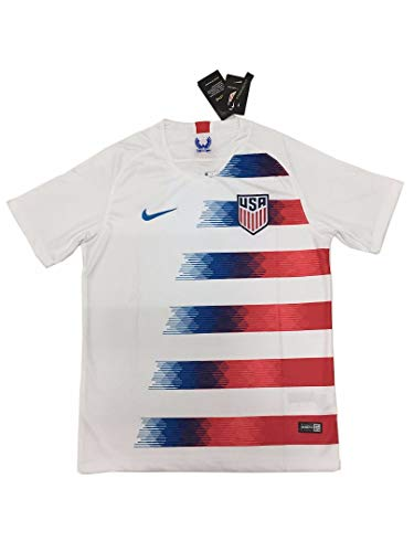 2018-2019 Men's USA National Team Home Soccer Football Jersey White (XL (X-Large))